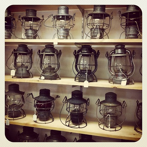 Lots of hurricane lamps