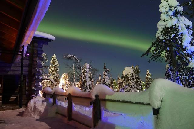 Una estupenda foto de la aurora boreal