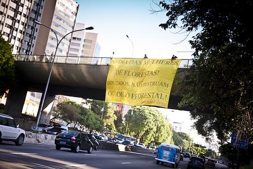 Código Florestal protesto na Ponte do Paraíso