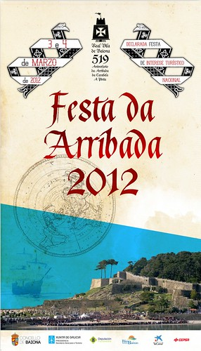 Baiona 2012 - Festa da Arribada - cartel