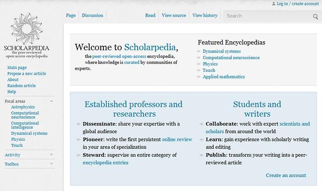 wiki_scholarpedia উইকিপিডিয়ার বিকল্প কিছু ওয়েবসাইট