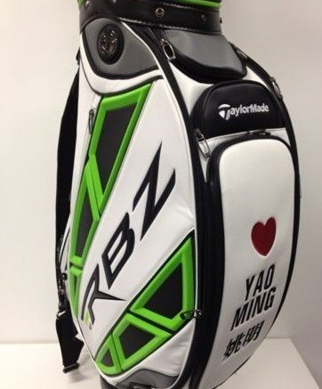 March 9th, 2012 - Yao Ming's golf bag at a Shanghai driving range