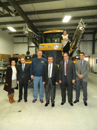 Pictured are the Turkish delegation members with Todd Gerdes of Aurora Co-op, third from left, at the Aurora Co-op in York, Nebraska, one of the tour stops.