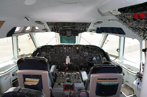 Record shot - old airliner cockpit