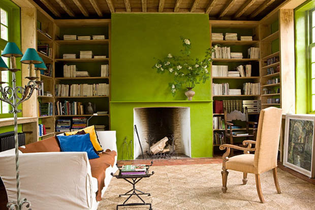 gilles+trillard+chartreuse+bright+green+fireplace+cococozy