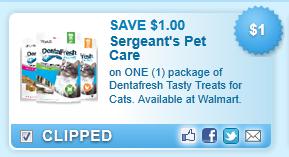 Dentafresh Tasty Treats For Cats. Available At Walmart.  Coupon