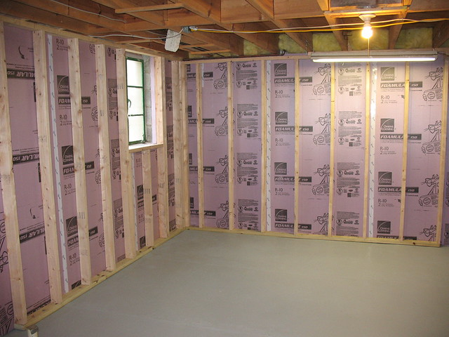 Insulating Basement Block Walls : Insulating cinder block exterior walls michigan