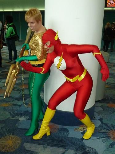 Aquawoman and Flash
