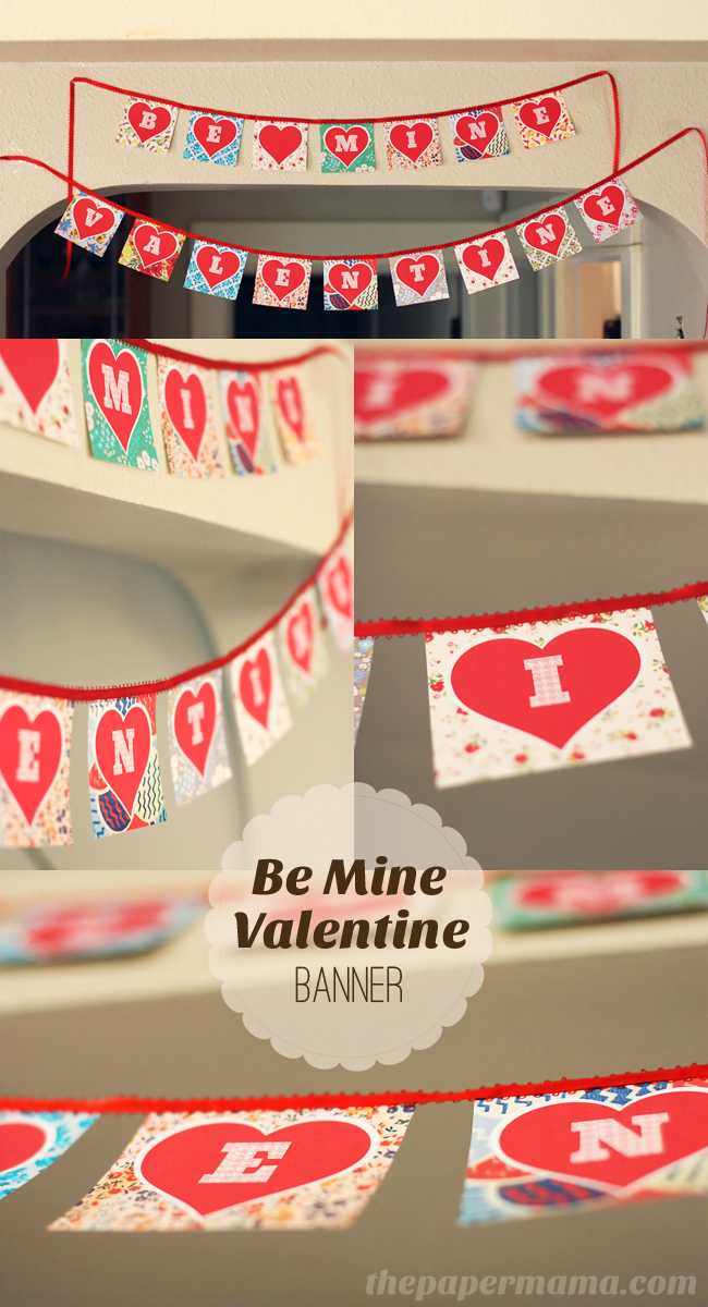 picture relating to Valentine Banner Printable named Components in direction of get pleasure from + Valentines banner freebie! - The Paper Mama