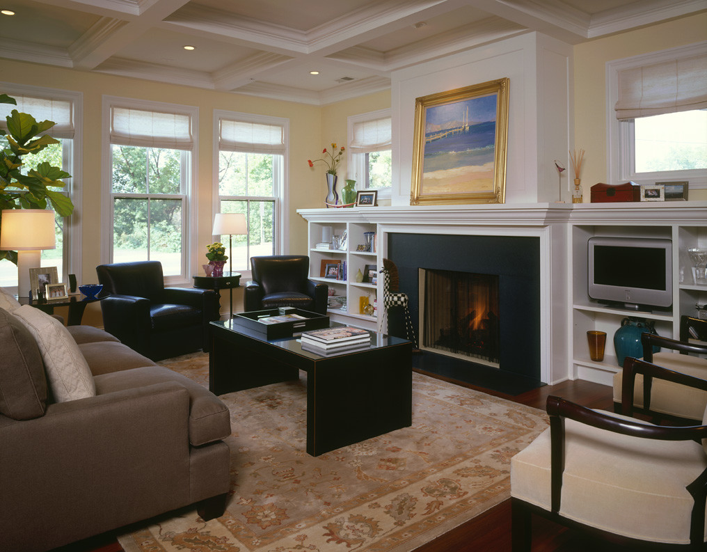 Modern Living Room With Traditional Detailing