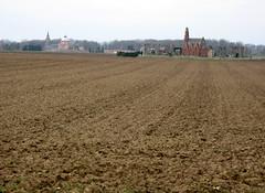 Grivesnes (panorama) village et cimetière St-Aignan 4293