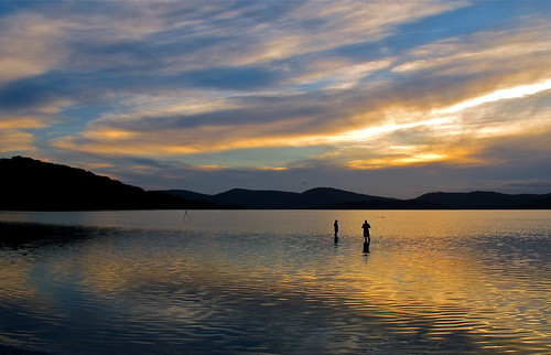 sunset lake clouds tranquility retreat meditation g11 wallislake tionapark