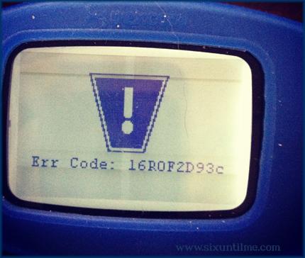Dexcom Err Code: 16R0F2D93c.