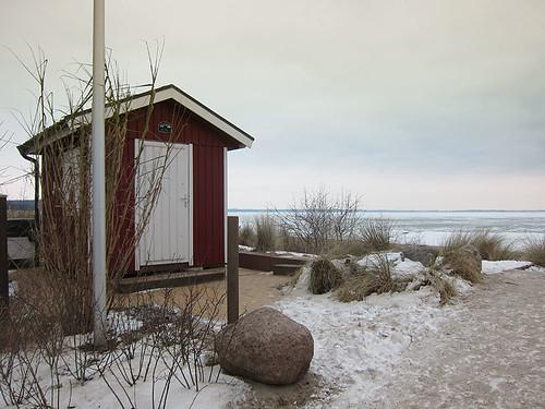 Häuschen am Strand