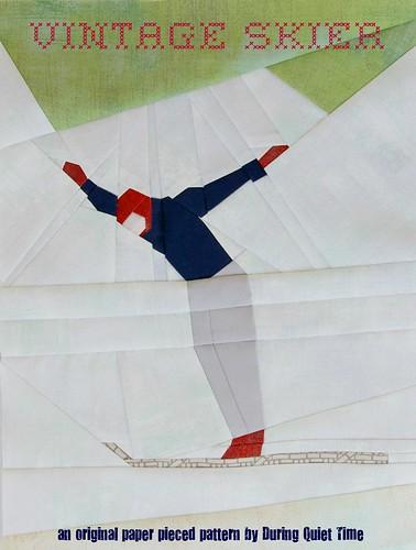 Vintage Skier Pattern Cover