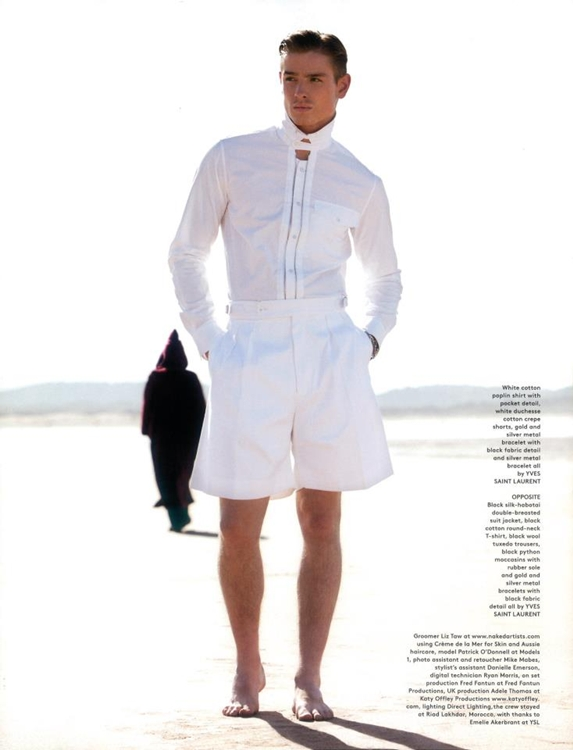 The House of Saint Laurent - GQ Style UK, S/S 12 - Patrick O'Donnell by Jack Pierson and styling by Luke Day.
