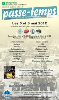 Affiche du Grand Salon du passe-temps 2012