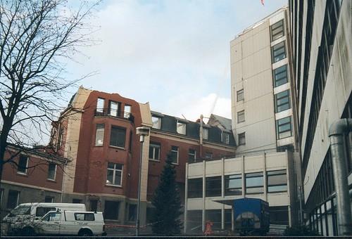 Sykehuset rives - Den gamle hovedinngangen