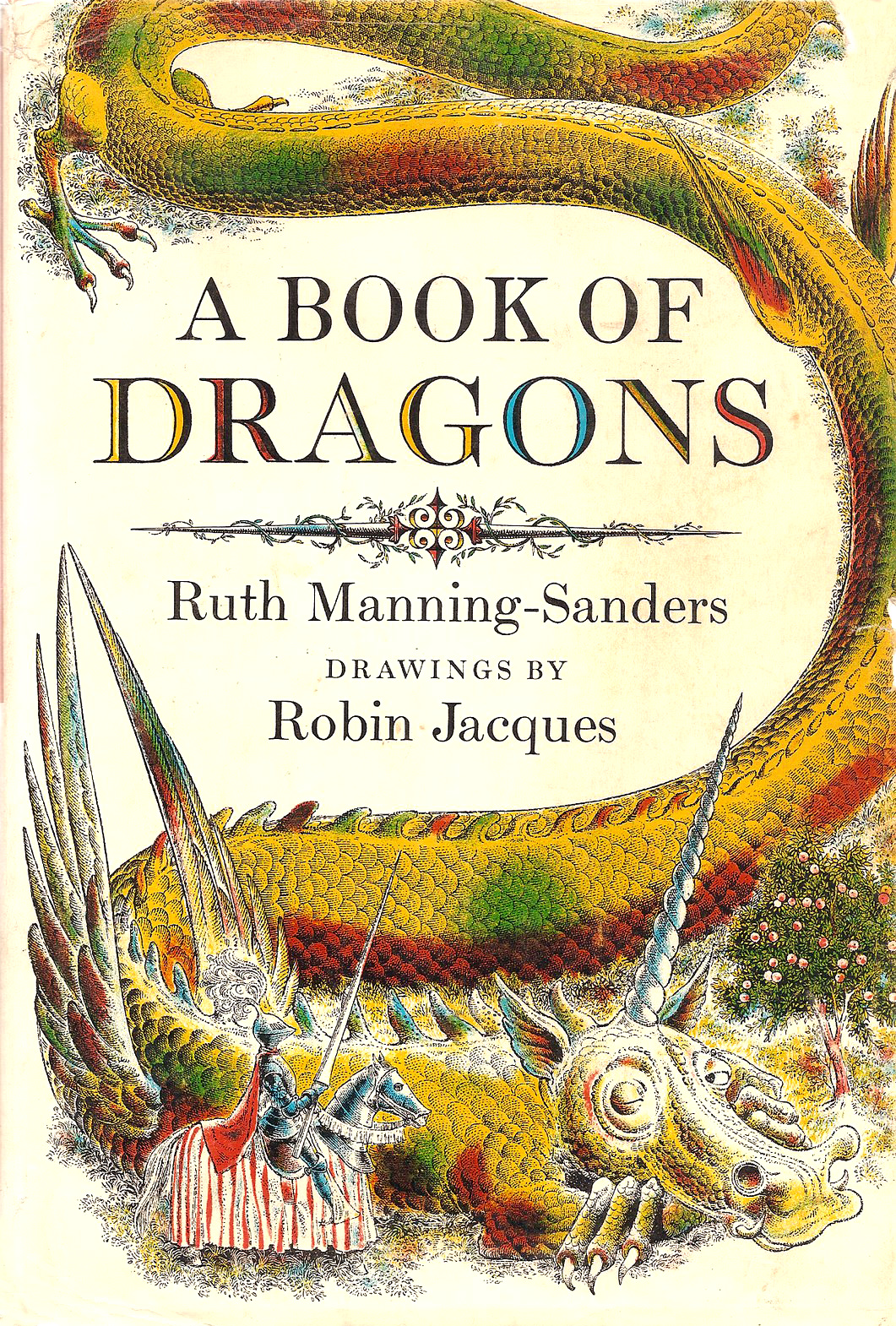 "Robin Jacques - Cover Art For Ruth Manning-Sanders' ""A Book Of Dragons"""
