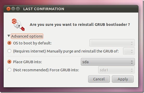 ubuntu boot repair