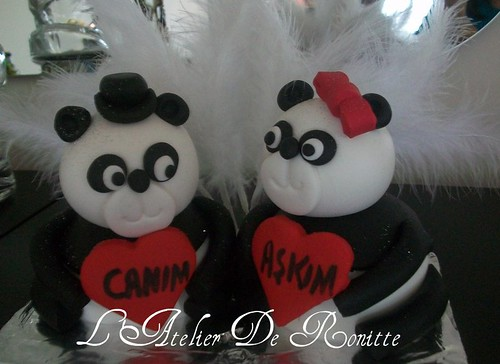 Aşık Pandalar sevgililer günü mini pastaları by l'atelier de ronitte