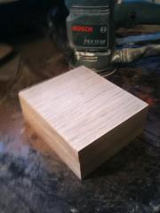 Oak base for automaton head