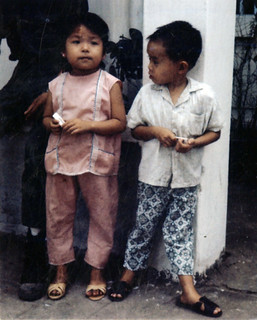 Young Vietnamese girl and boy.