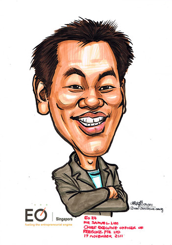 Mr Samuel Lim caricature for EO Singapore