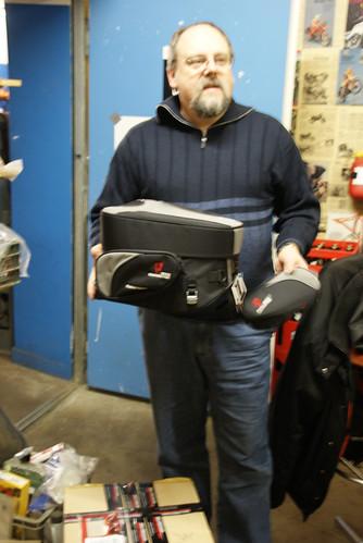 Andreas mit seiner sw-motech Backseat Tasche