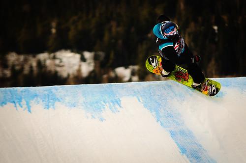 Fra Slopestylefinalen under Snowboard-VM i Oslo 2012