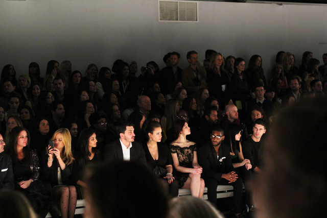 issa aw12 london fashion week front row tinie tempah gemma arterton leigh lezark