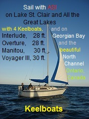Lake St. Clair, the Great Lakes, Sail With ASI click on picture for fee and signup information