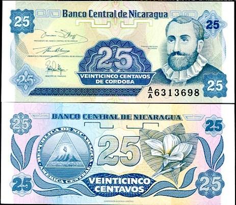 25 Centavos Nikaragua 1991, Pick 170