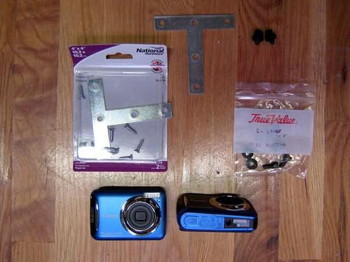 T-bracket dual camera rig materials