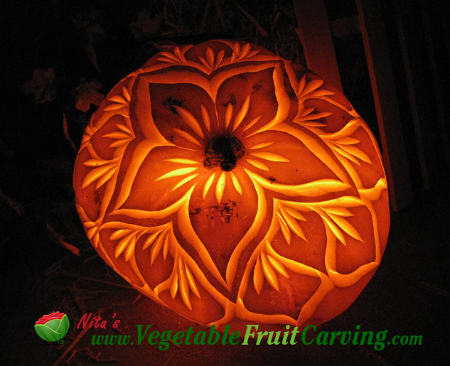 Pumpkin carving flower flickr photo sharing
