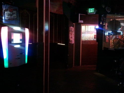 Jukebox and door at Parkway Lounge
