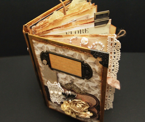 Altered Book Cover Tutorial : Papier love vintage altered book with simple tutorial