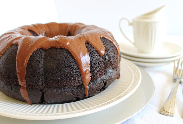 Chocolate coffee bundt cake