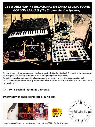 Workshop de Producción Musical con Gordon Raphael (productor de The Strokes, Regina Spektor) by Efectos Cluster