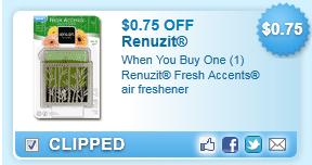 Renuzit Fresh Accents Air Freshener  Coupon