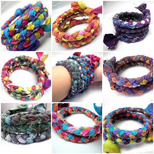 Braided Hand Dyed Bracelets - My Newest Creation