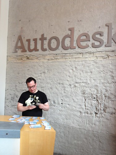 Badge pick up at Autodesk