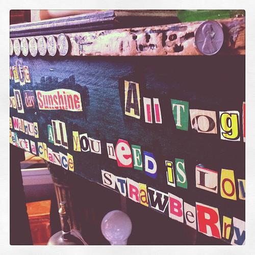 Some hippy's old desk