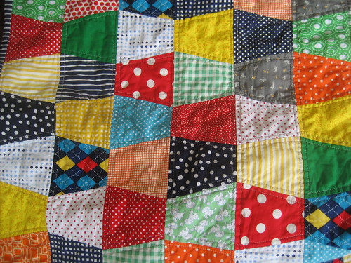 baby boy tumbler quilt detail