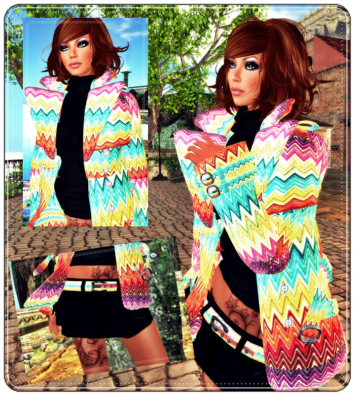 Mta-VeroModero Trench Coat Rainbow