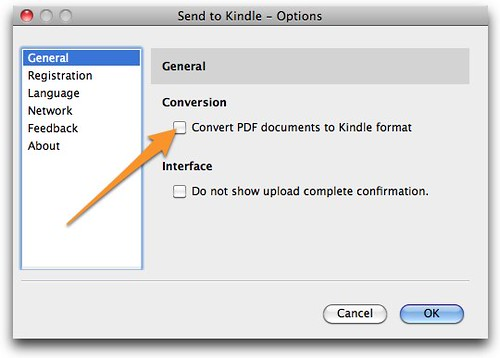 Send to Kindle - Options-1