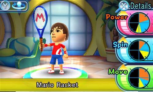 Mario Tennis Open - equipment