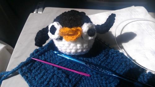 Penguin ball I made on the plane