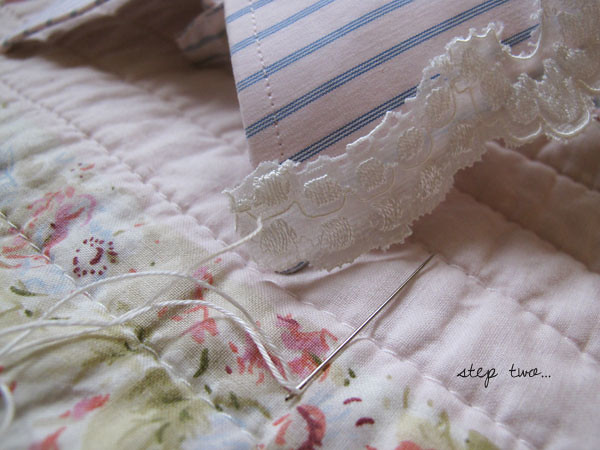 how to make a lace collar