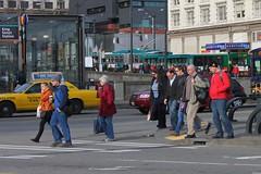 Rush hour pedestrians